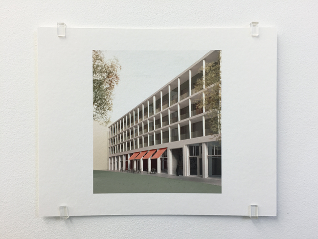 Caruso St John, Falconhoven Housing Antwerp (2014-2017), photograph, 2017, 16.8 x 21 cm, edition of 7.