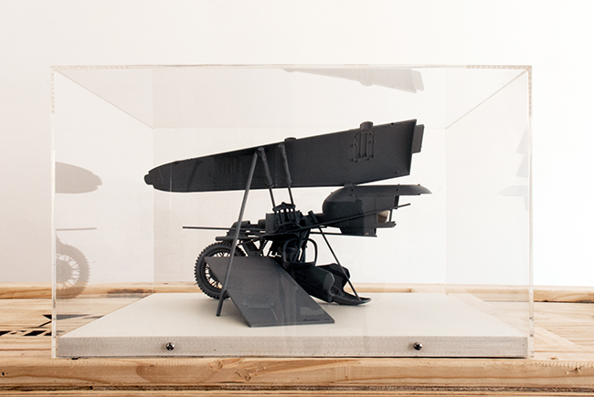 Dwelling for One , 2000, timber and plastic, 25 x 40 x 40 cm, scale 1:20