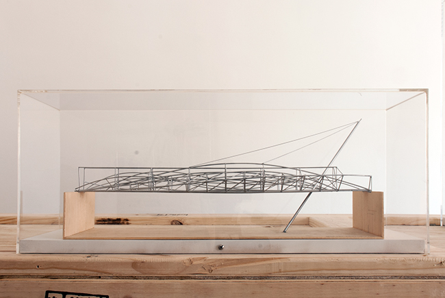 Charles Street Bridge , 1992, timber and plastic, 20 x 50 x 16.5 cm, scale 1:100