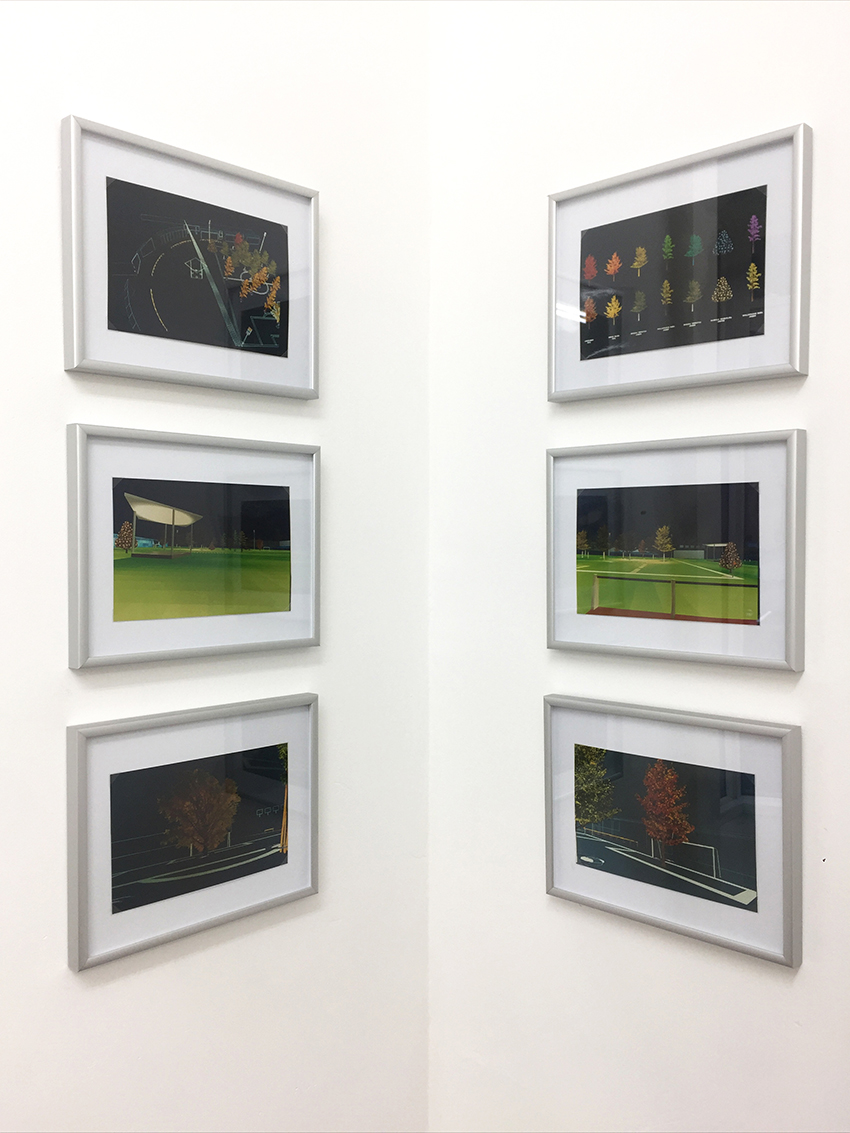 Jardin de Foot series , 1994, computer drawings printed on photo paper