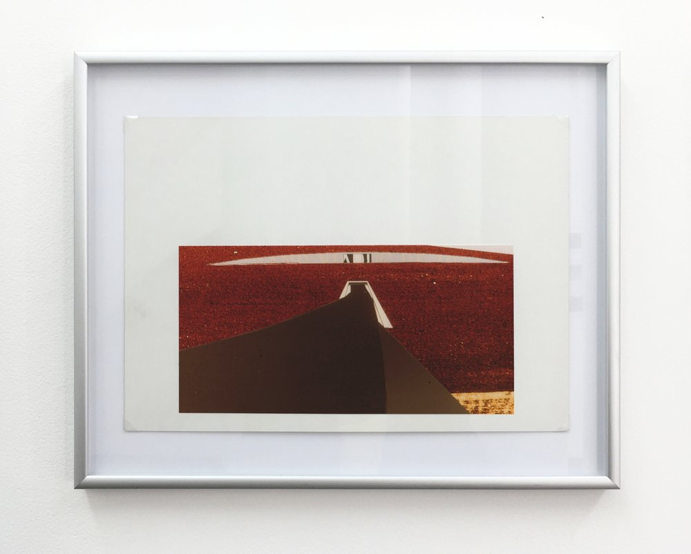 Millau Viaduct - The Entrance , 1994, computer drawing printed on photo paper, cardboard