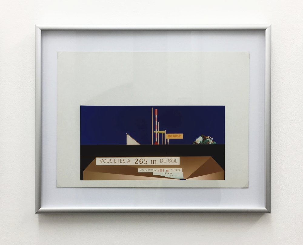 Millau Viaduct - Apron section , 1994, computer drawing printed on photo paper, cardboard