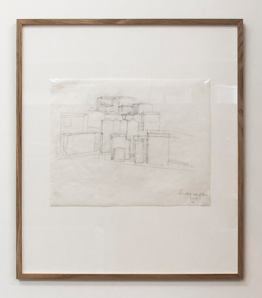 Florian Beigel,  104 Village 03_140309 , 2014, pencil on greaseproof paper, 300 x 375 mm