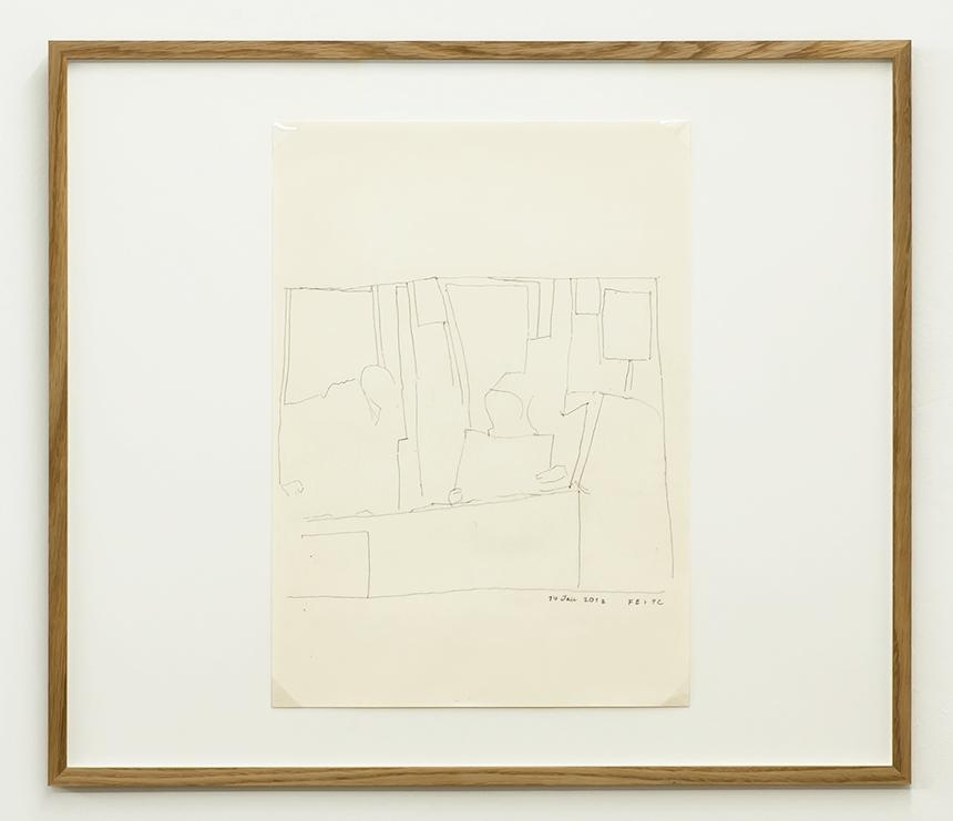 Florian Beigel & Philip Christou,  Still life 27_180114 , 2018, pencil on cartridge paper, 420 x 296 mm