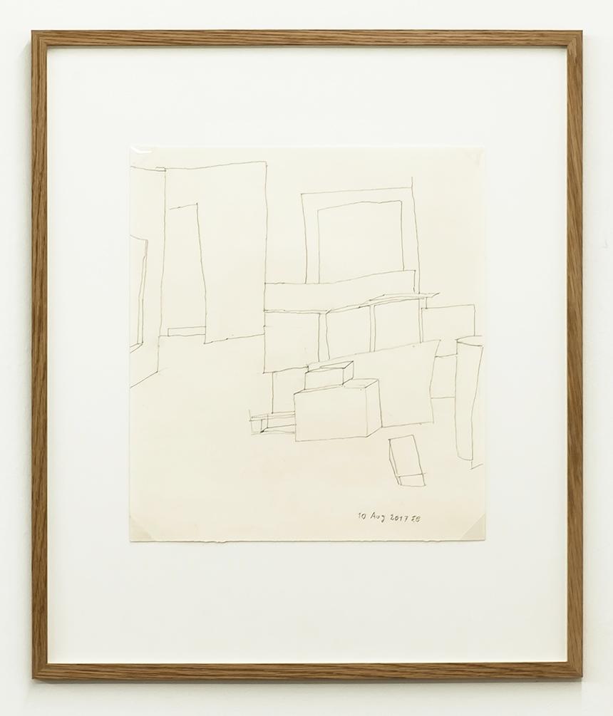 Florian Beigel,  Still life 18_170810 , 2017, pencil on cartridge paper, 328 x 296 mm