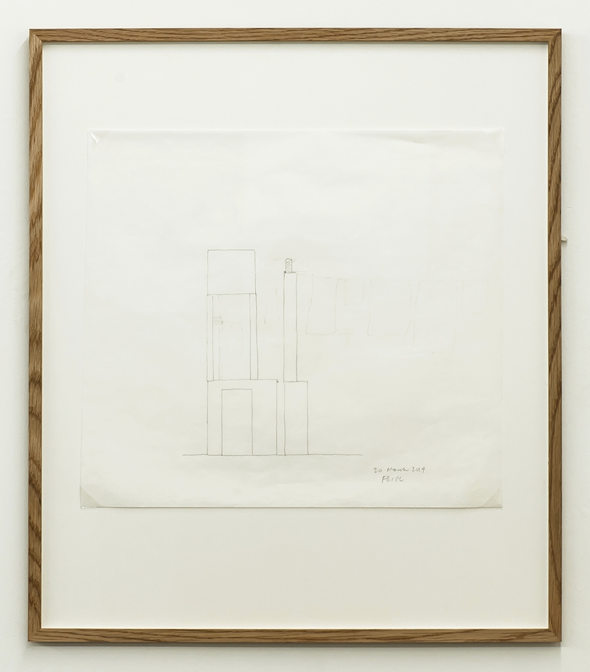 Florian Beigel & Philip Christou,  104 Village 09 , 2014, pencil on greaseproof paper, 375 x 422 mm