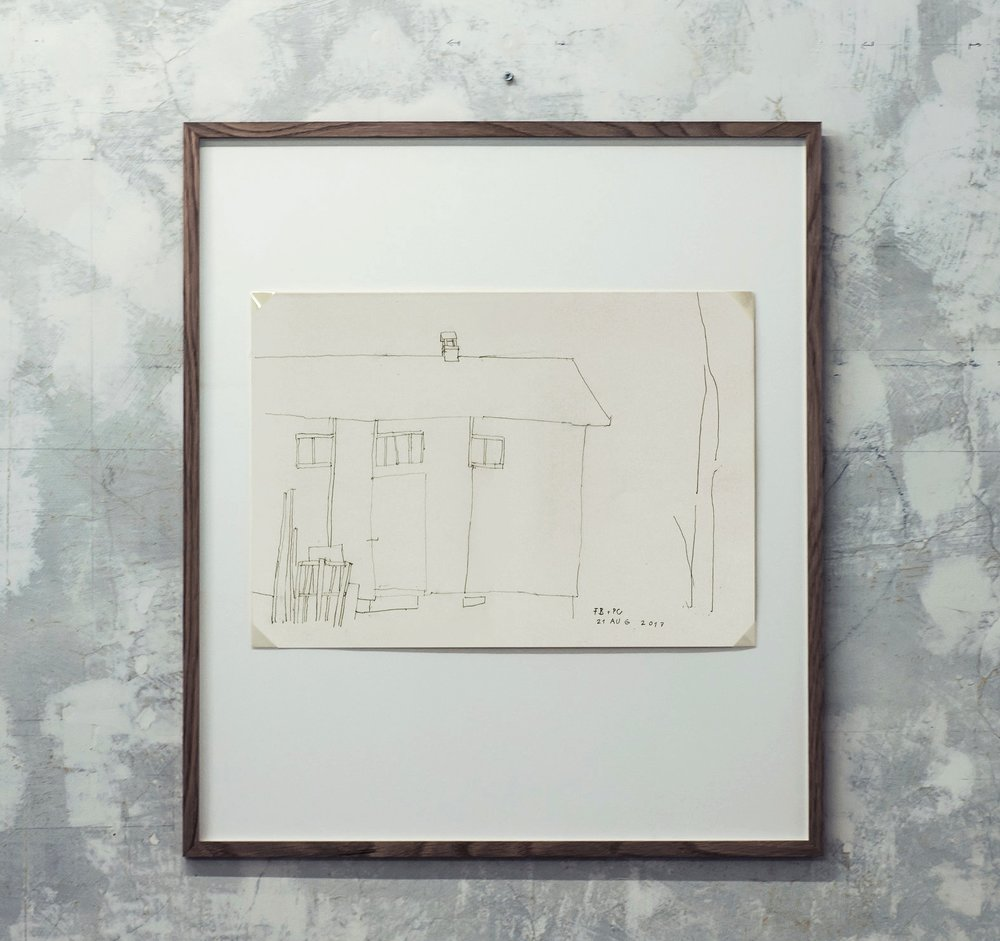 Florian Beigel & Philip Christou,  Still life 19 , 2017, pencil on cartridge paper, 296 x 420 mm