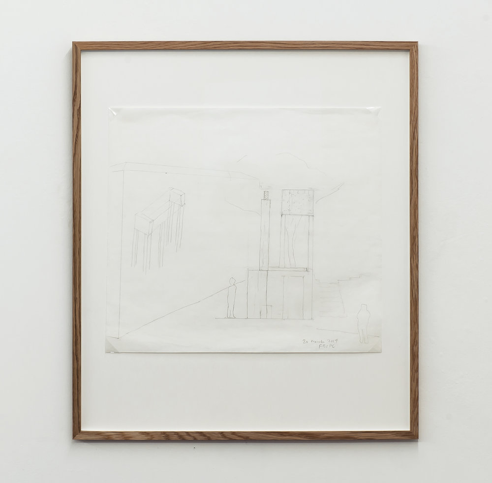 Florian Beigel & Philip Christou,  104 Village 10_140320 , 2014, pencil on greaseproof paper, 375 x 422 mm