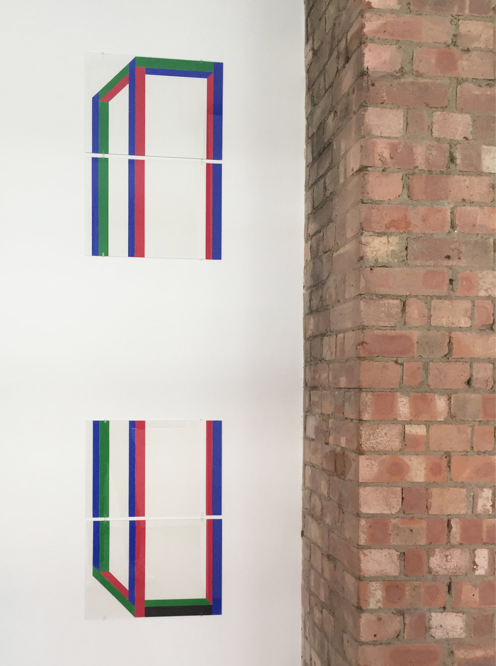 Drawing 1 ,2018,waxed pastel drawing on paper,118.8 x 42 cm (4 x 29.7 x 42 cm)