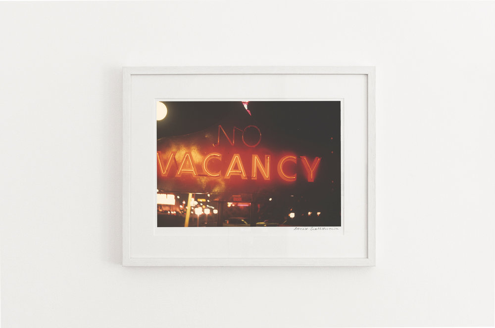 (No) Vacancy, Las Vegas , 1966. Giclée pigment on Hahnemuhle archivalpaper, 45.5 x 30.3 cm (framed), Edition of 10