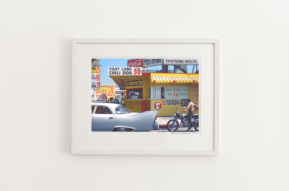 Pico Boulevard, Santa Monica ,1966. Giclée pigment on Hahnemuhle archival paper, 45.5 x 30.3 cm (framed), Edition of 10