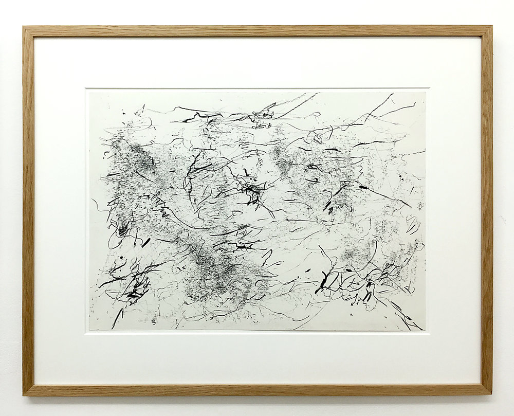 Freigeregelte apparative Zeichnungen (Untitled No.7) , 1990, magnetically manipulated plotter drawing / pencil on paper, 45.5 x 58 cm