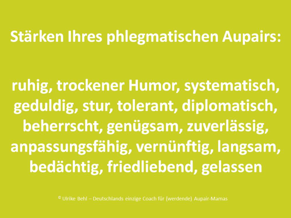 Aupair-Typ Phlegmatiker BEHL ! COACHING