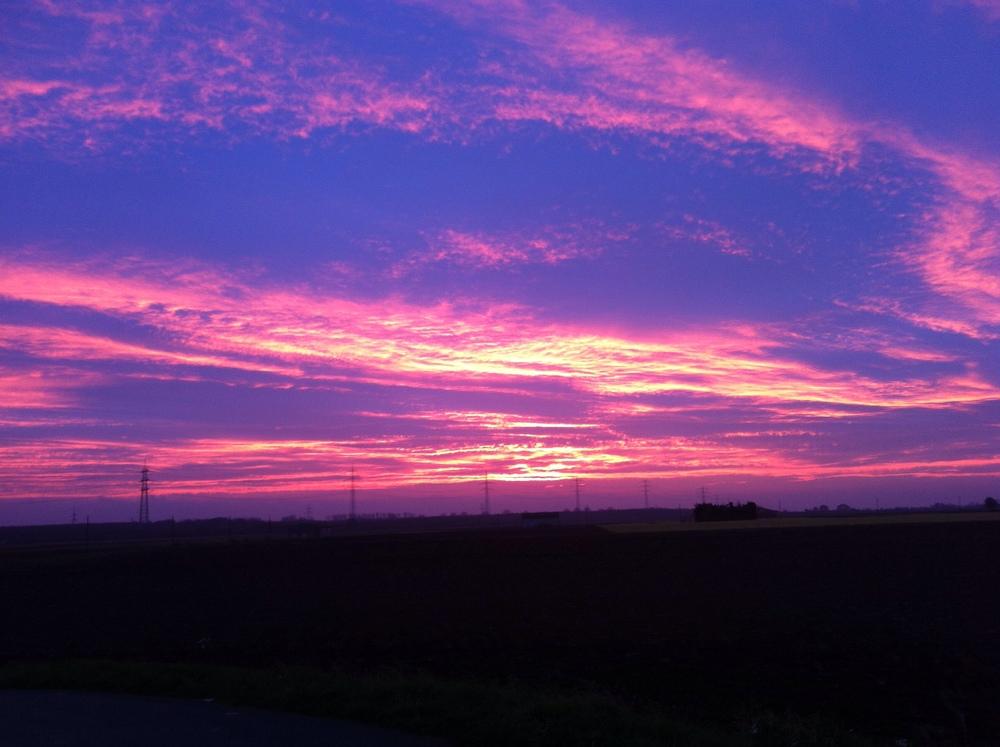 Sonnenaufgang bei Bauschheim