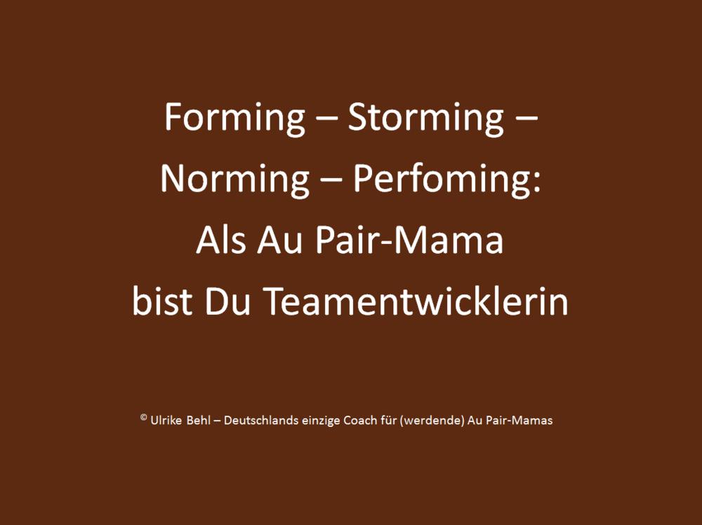 Au Pair-Mama Teamentwicklung
