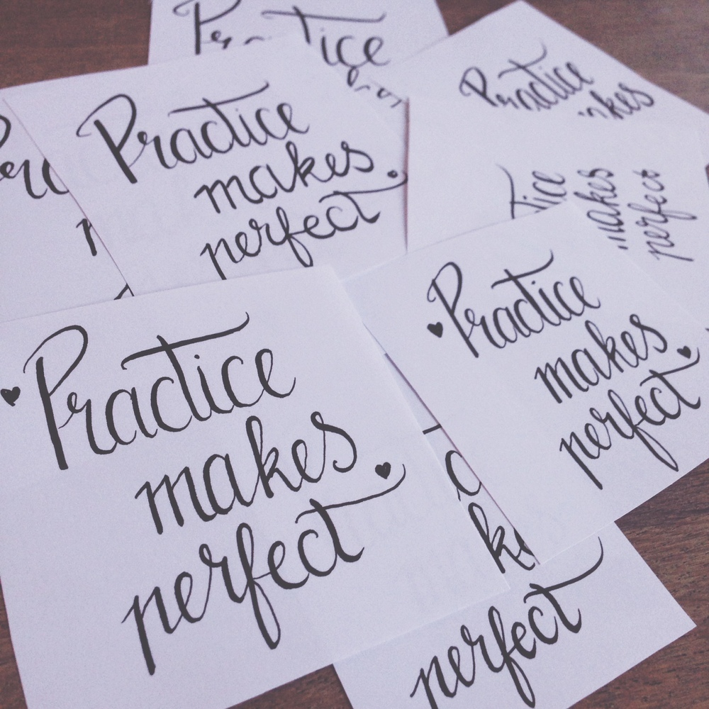 Practice makes perfect, just keep practicing on what you want and you will succeed!