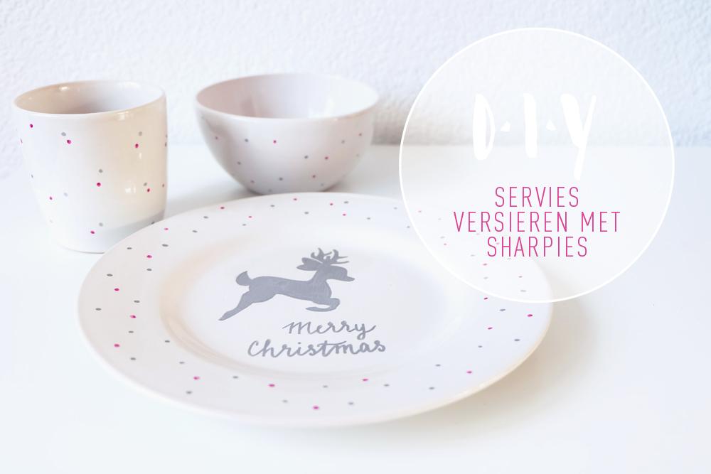 Kerst Diy Versier Je Eigen Servies Met Sharpies No Ordinary Tales