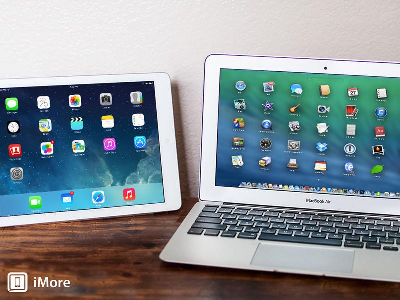 iPad Air e Macbook Air 11'', lado a lado.
