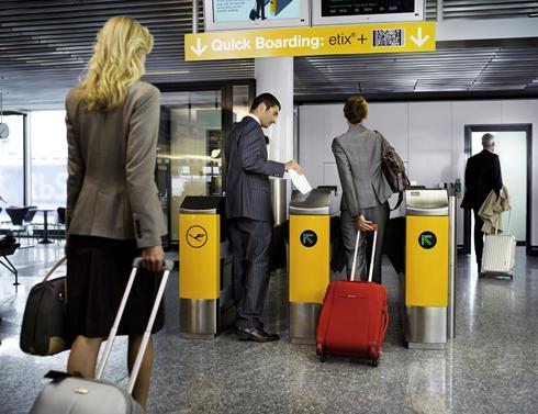 Imagem ilustrativa deste novo sistema de controlo nos aeroportos