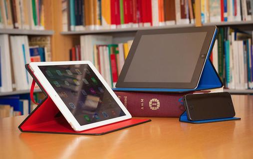 VirguCase Vermelho para iPad e VirguCase Azul para iPhone e iPad