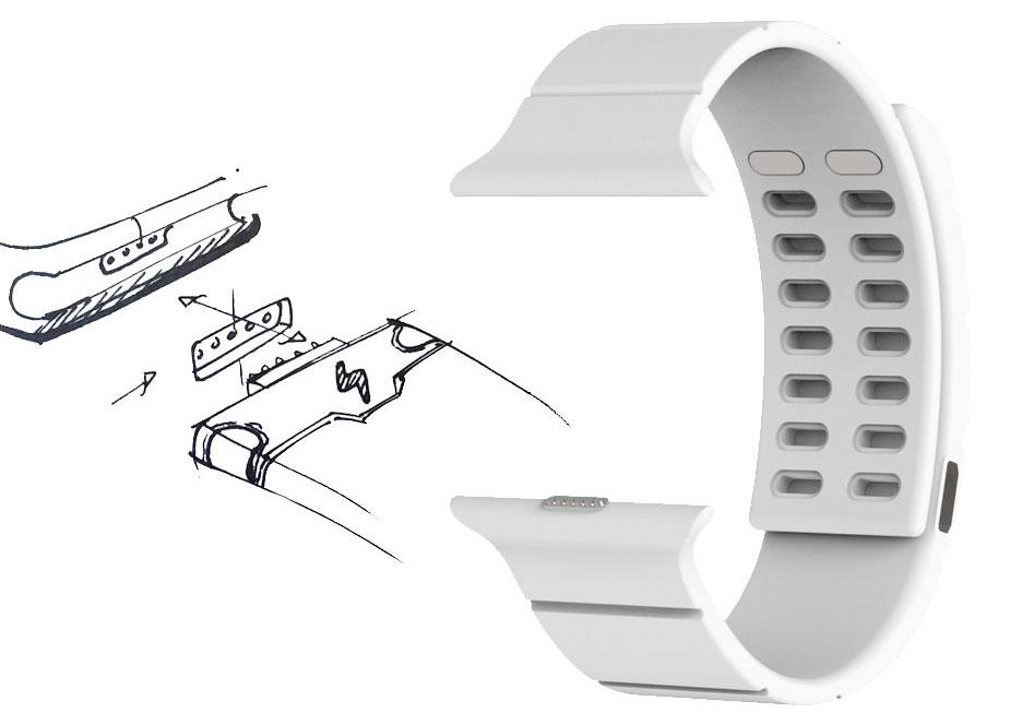 Conceito de pulseira com baterias integradas (Reserve Strap)