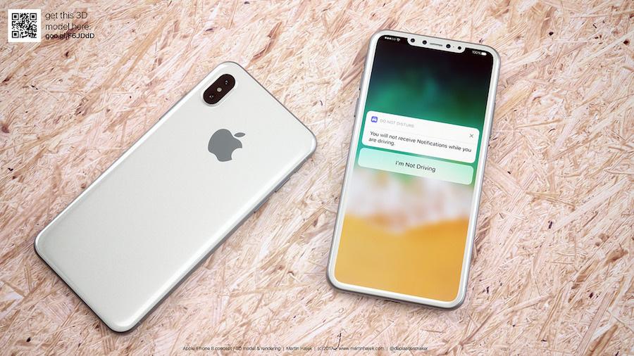 """Conceito """"iPhone 8"""" em branco por Martin Hajek"""