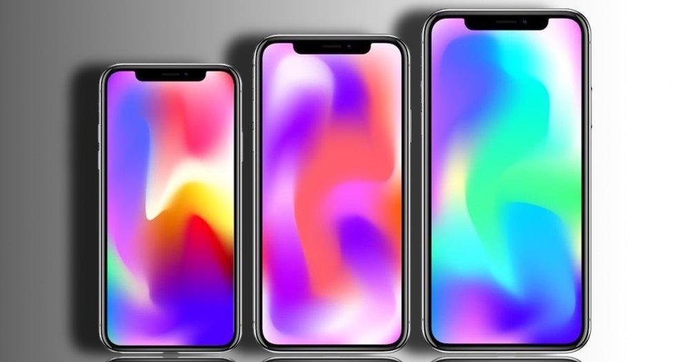 Ilustração da linha de iPhones para 2018, via MacMagazine