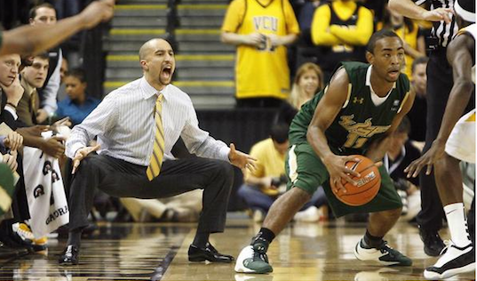 Texas head Coach Shaka Smart, known for taking charges in practice, took the VCU Rams from the First Four to the Final Four in 2011. Photo: VCU Athletics
