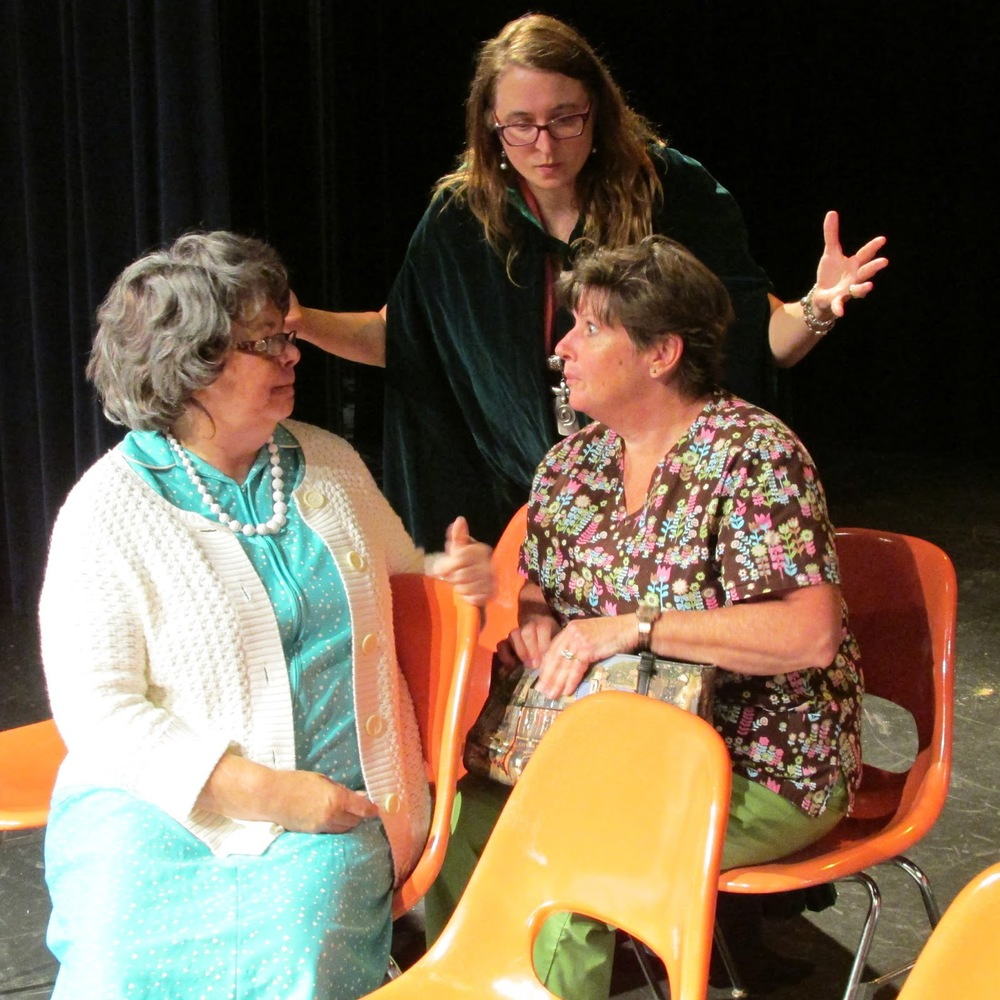 "Heart-A-Rama ""Here We Sit"" performed at UW-Manitowoc Lakeside Theater.  from left: Barb Krueger, Tina Prigge, Ellen Peronto"