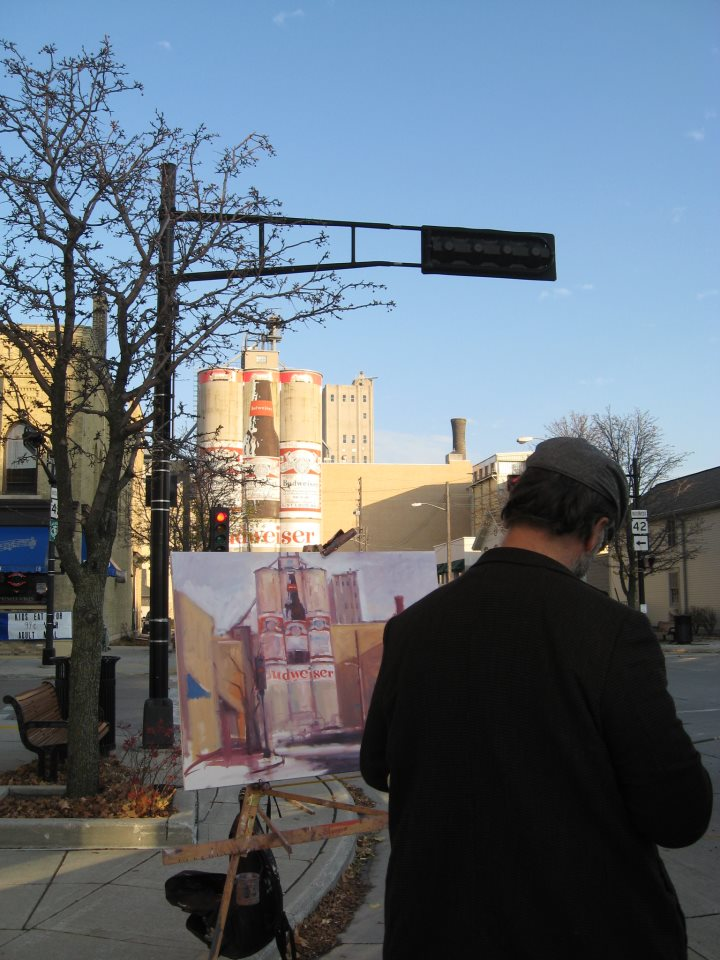 Painting the iconic Bud Towers