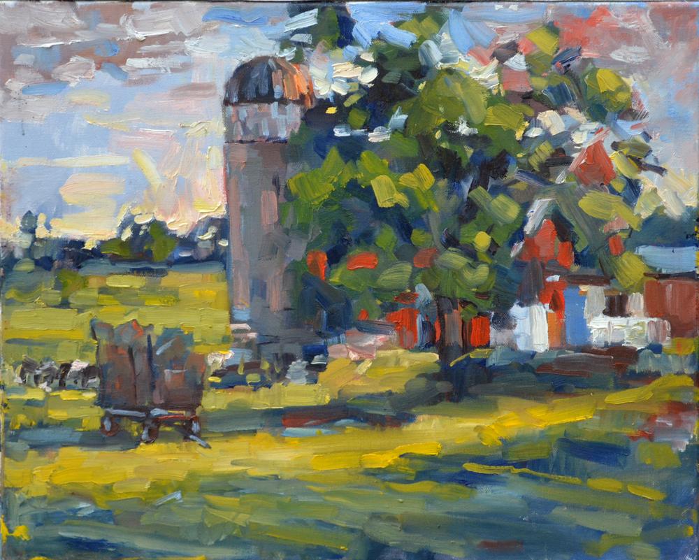 """""""Last Light"""". Oil on canvas. 16x20. Executed plein air."""