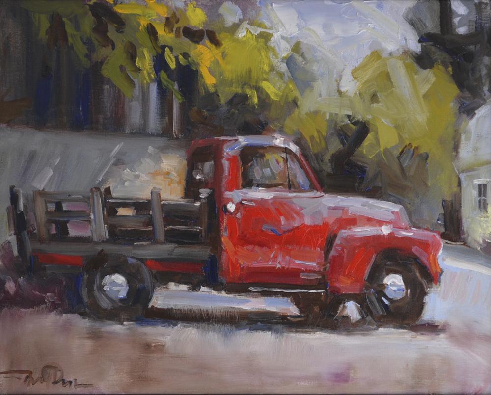 Cedarburg Red Truck, 16x20 2014.JPG