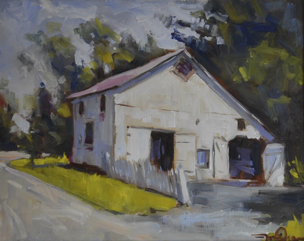 Cedarburg White Barn, 16x20 2014.JPG