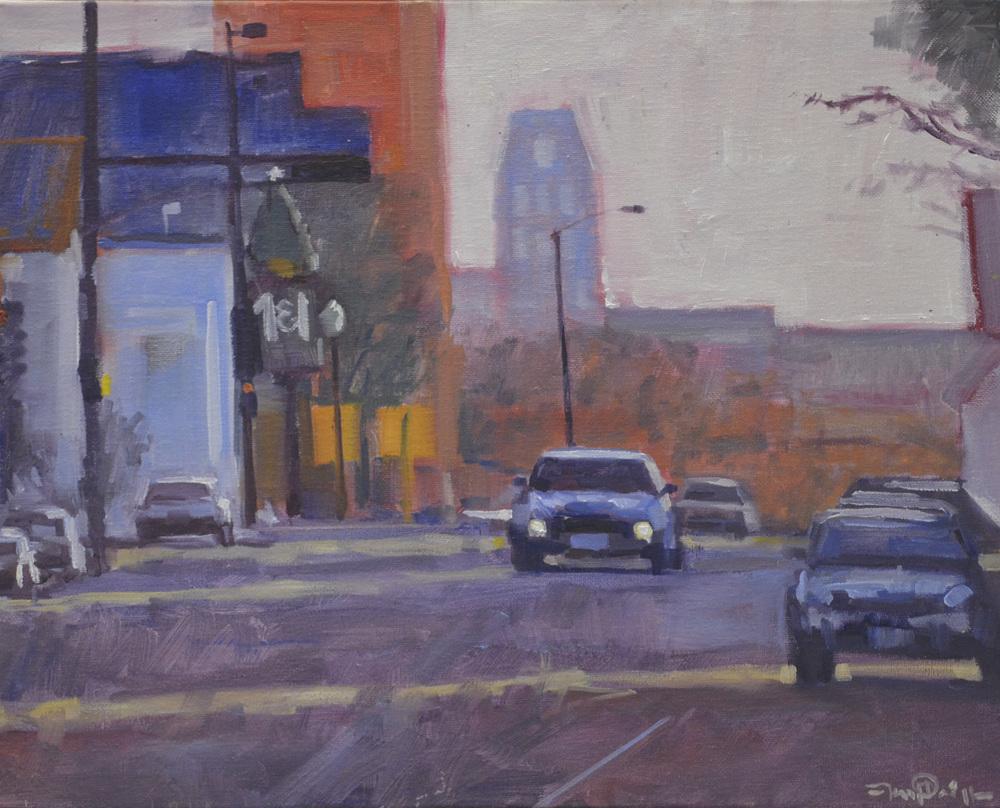 Artist Jason Prigge, Downtown Manitowoc, 16x20, Oil 2.JPG