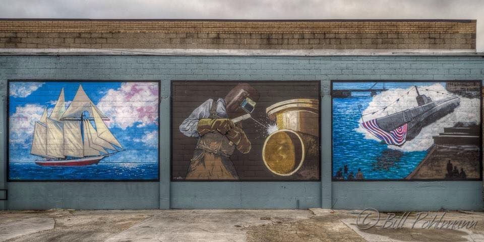 Photo by Bill Pohlmann, Maritime Heritage Mural by Artist Jason Prigge