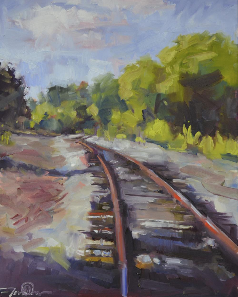 Railroad Series  Forgotten Road 20x16.JPG