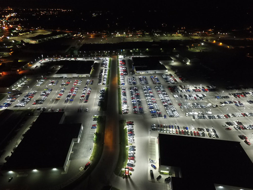 Auto Dealership Aerial