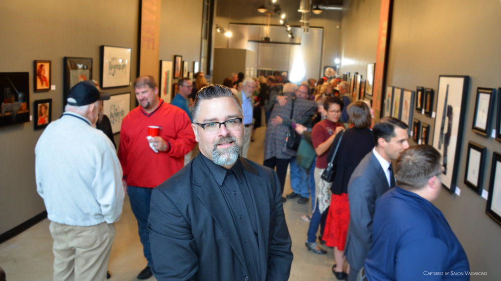 Artist Jason Prigge in his Gallery, Opening Night Sept 30 2016 DSC_0113.jpg