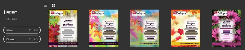 Sometimes the desktop working files are a form of art. Click here for the UW Colleges Continuing Education 2017 Fall Catalog.