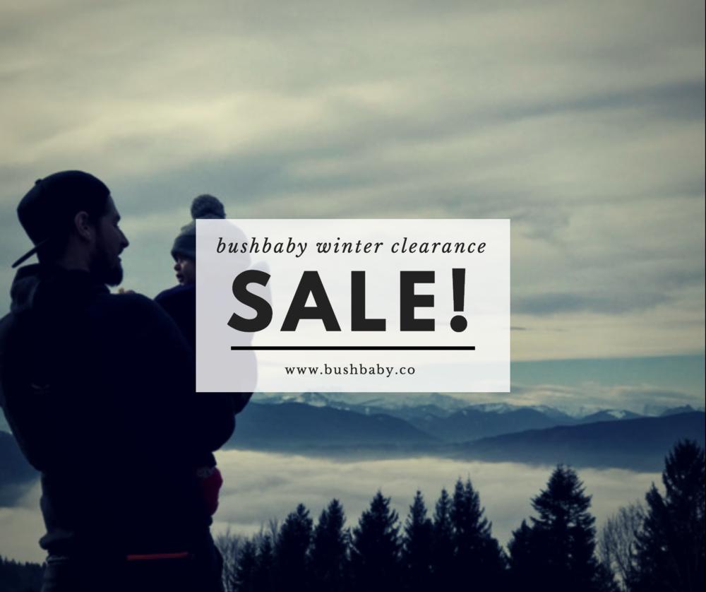 bushbaby winter gear sale