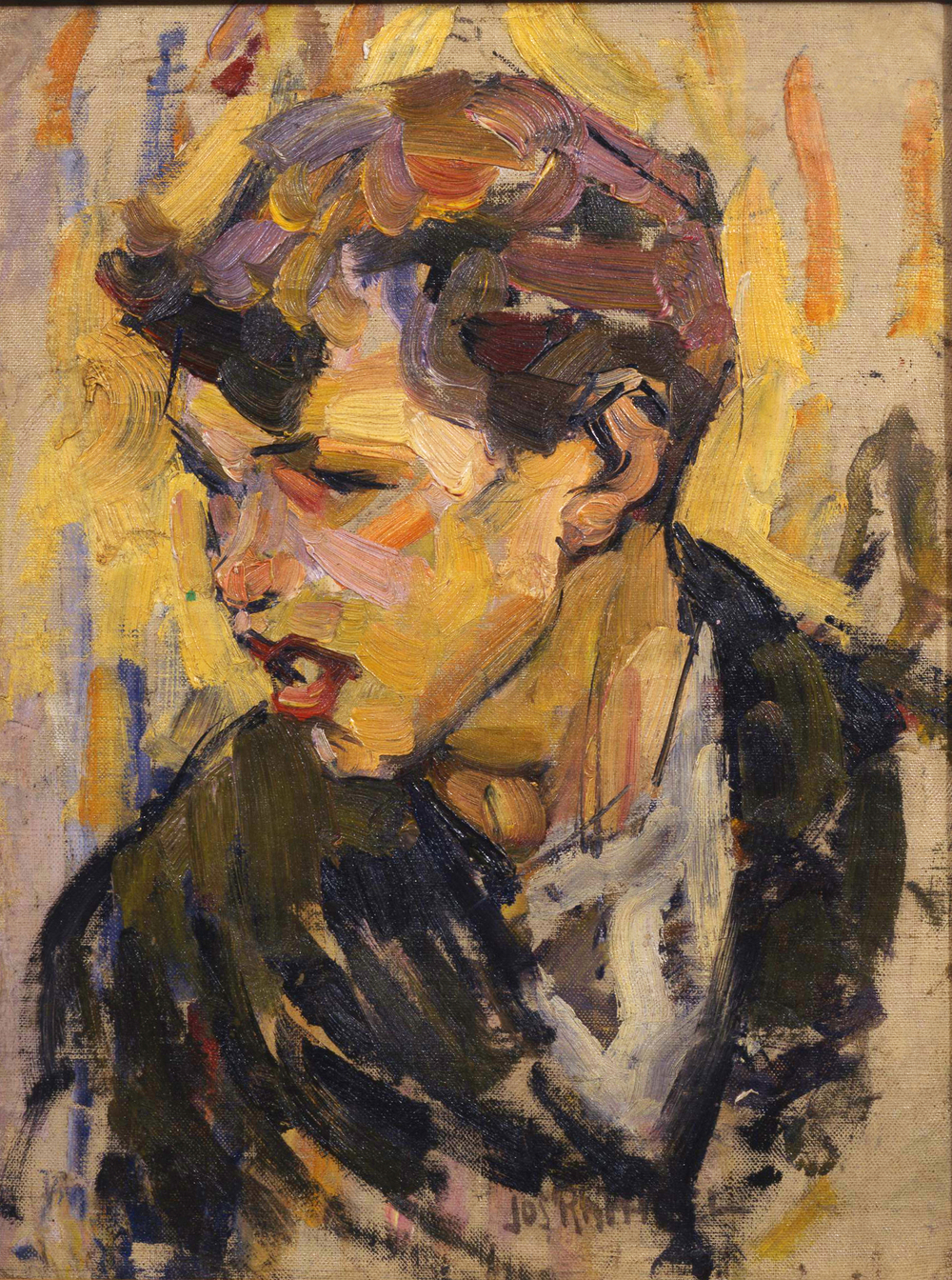 1. Raphael, Head of a Belgian Youth ca. 1912 (verso Laren Woman, ca. 1907).jpg
