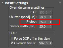 Higher values are less blurry