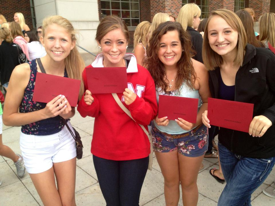Receiving bid day cards 2012
