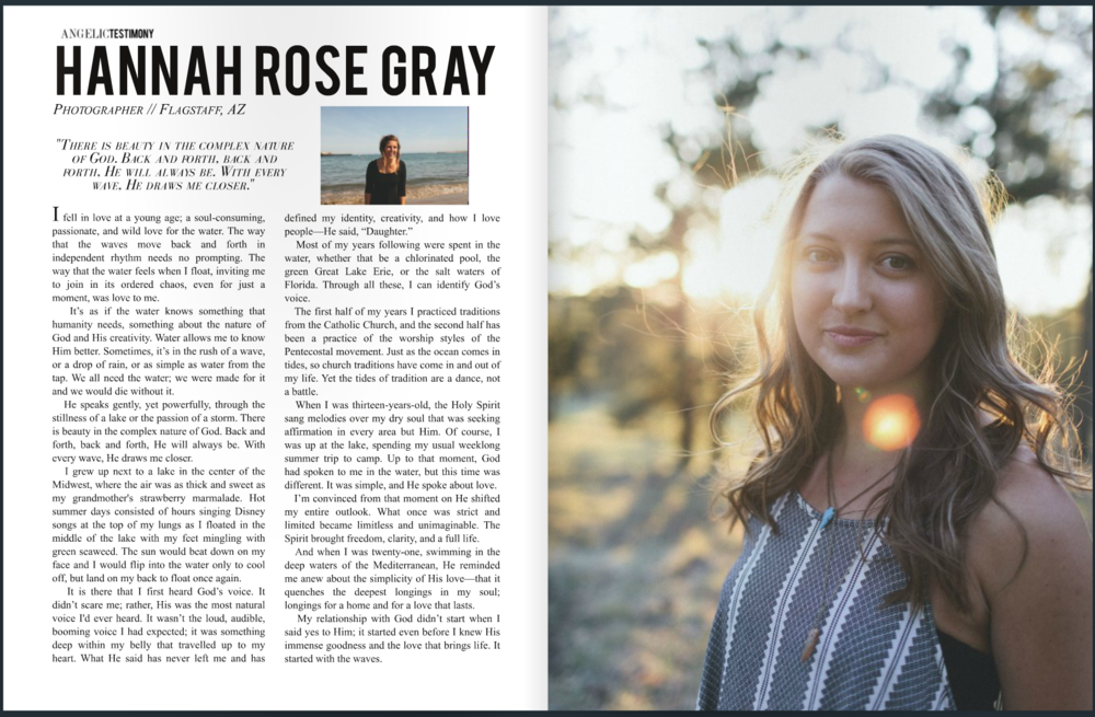 A feature article in the Angelic Magazine. Check out their site to view full article and magazine.