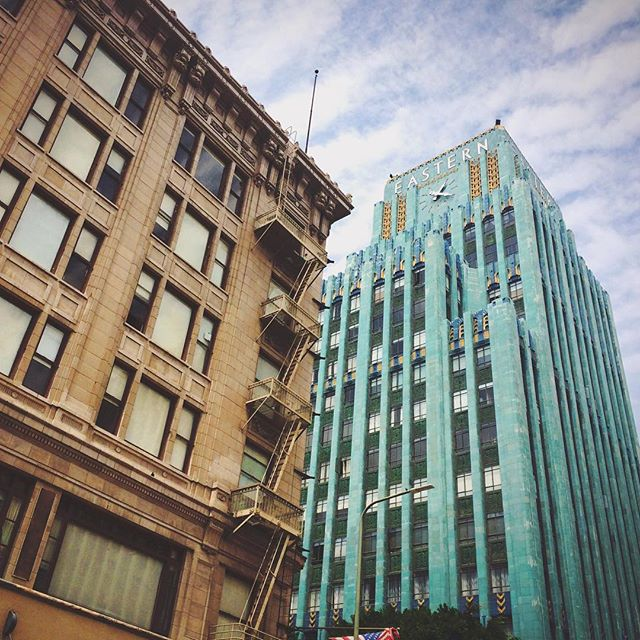 On a tour of LA coworking spaces. This city has some stunning architecture.  Photo by @macisaguy #gcucall #coworking #dtla #LAIsSuperCool