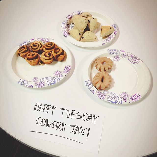 Because Tuesday is better with surprise breakfast goodness! Come on by and snag some for yourself! #sconesmakeusfeelfancy #happytuesday #coworking
