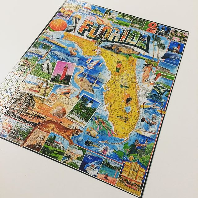 Finished! Thanks to all the members and guests who took part in our first CoWork puzzle. Florida never looked so good!