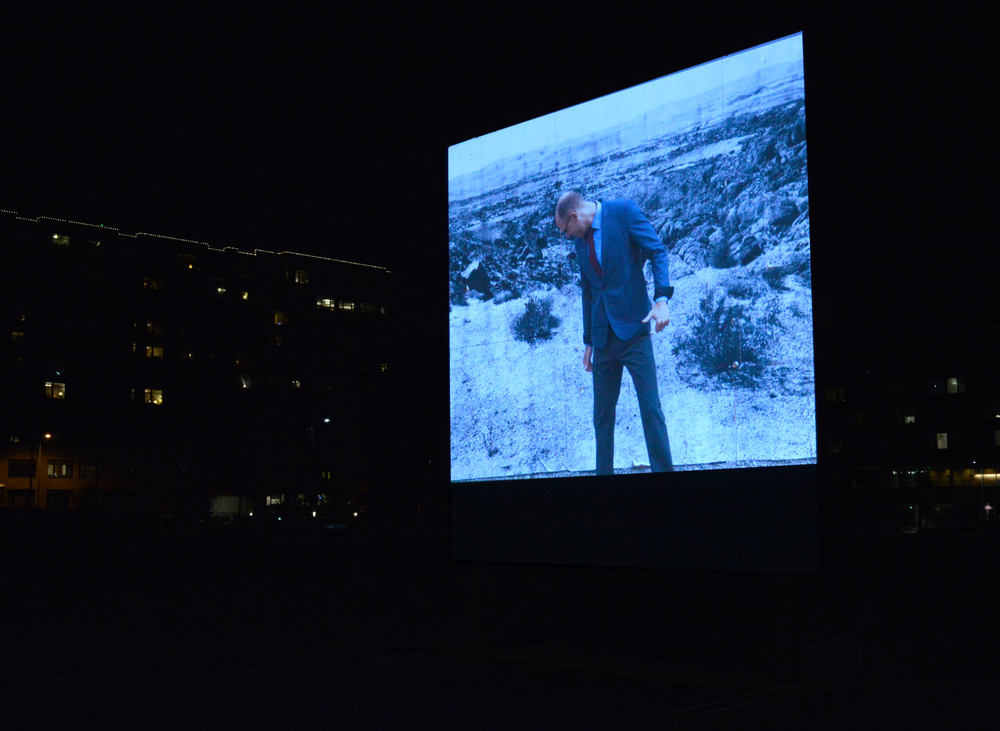 "Rodrigo Valenzuela, ""Flatlands,"" projection project with community members"
