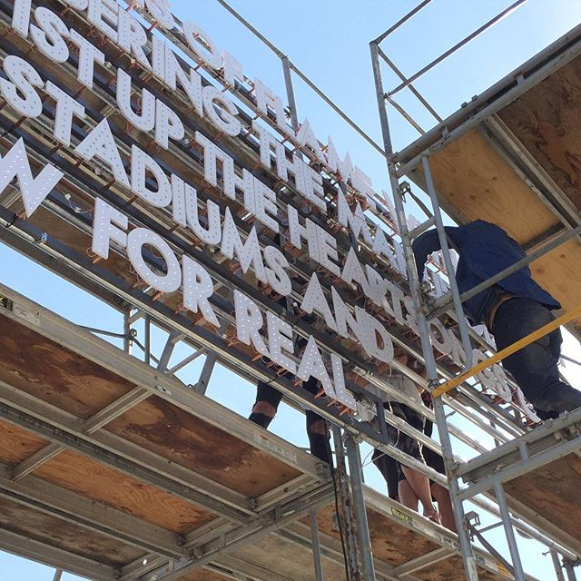 Saturday 8-10 Lighting and reception with @robertmontgomeryghost for THE STARS PULLED DOWN FOR REAL. #allriseseattle #robertmontgomeryghost #seattleartfair 1250 Denny Way