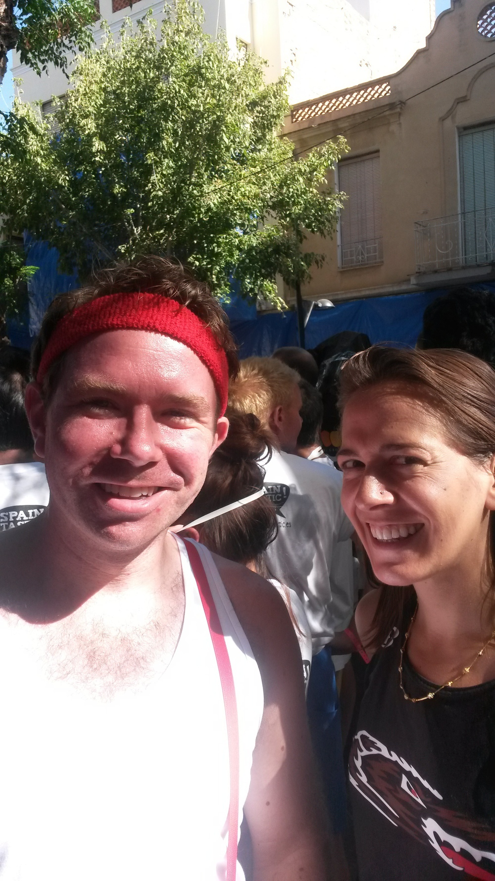 #TeamTomatoJos  moments before the start of LaTomatina 2014